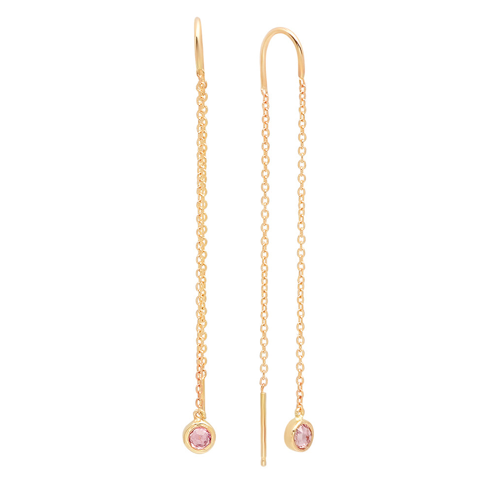 Dancing Pink Sapphire Earrings - rosedale-jewelry