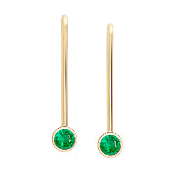 Emerald Drop Earrings - Rosedale Jewelry