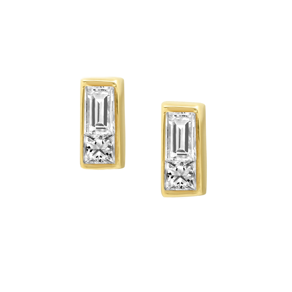 Diamond Duet Earrings - Rosedale Jewelry