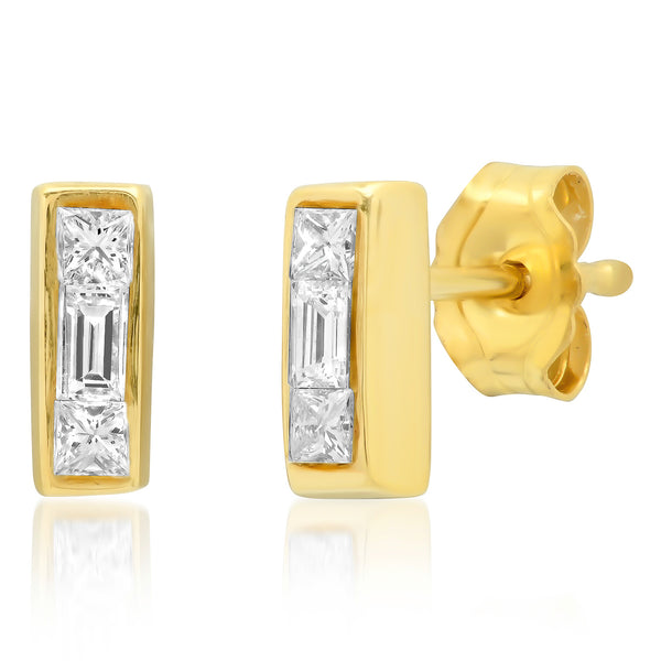 Diamond Triplet Earrings - Rosedale Jewelry