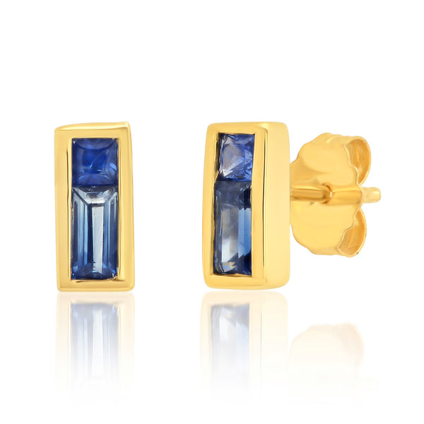 Sapphire Duet Earrings Blue - Rosedale Jewelry
