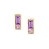 Sapphire Duet Earrings Purple/Pink - Rosedale Jewelry