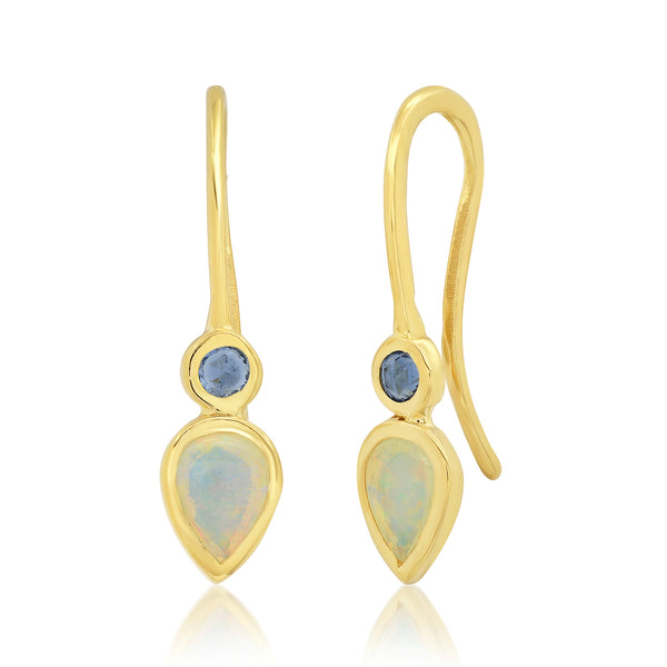 Lillie Opal Sapphire Drop Earrings - Rosedale Jewelry