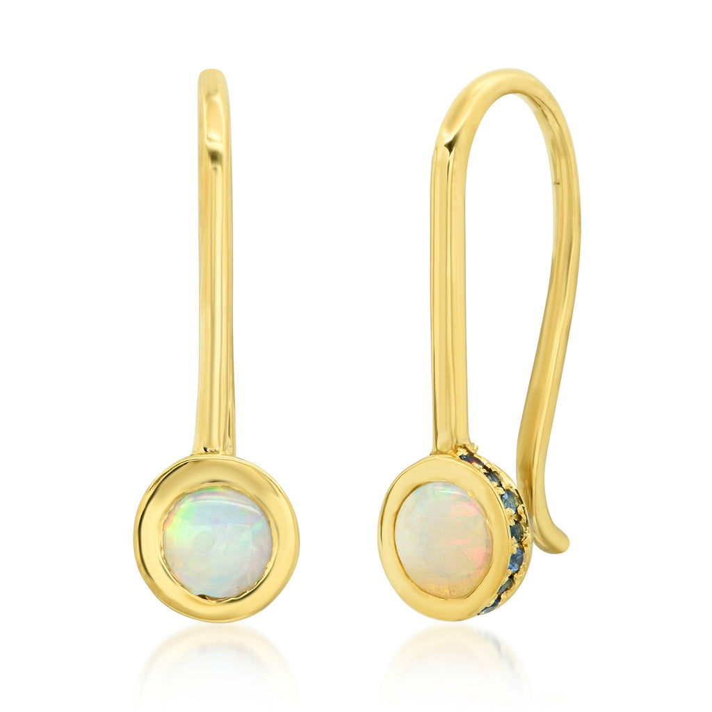 Aerial Opal Sapphire Drop Earrings - Rosedale Jewelry