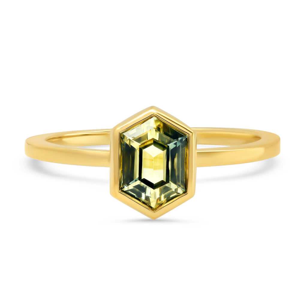 Gwen Hexagon Sapphire Ring - Rosedale Jewelry