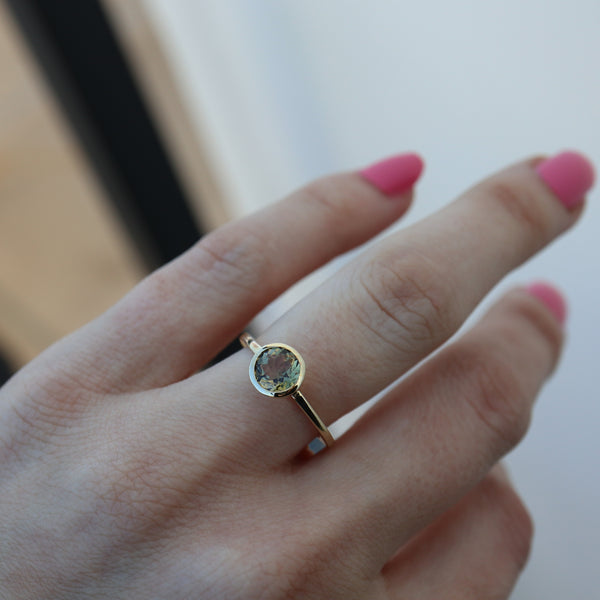 Olive Tourmaline Ring - Rosedale Jewelry