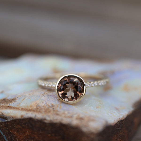 Cognac Tourmaline Ring - Rosedale Jewelry