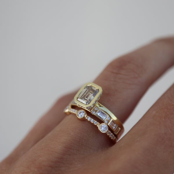 Odette Champagne Diamond Ring - Rosedale Jewelry