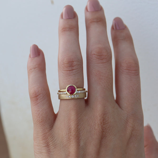 Rose Cut Ruby Ring - Rosedale Jewelry