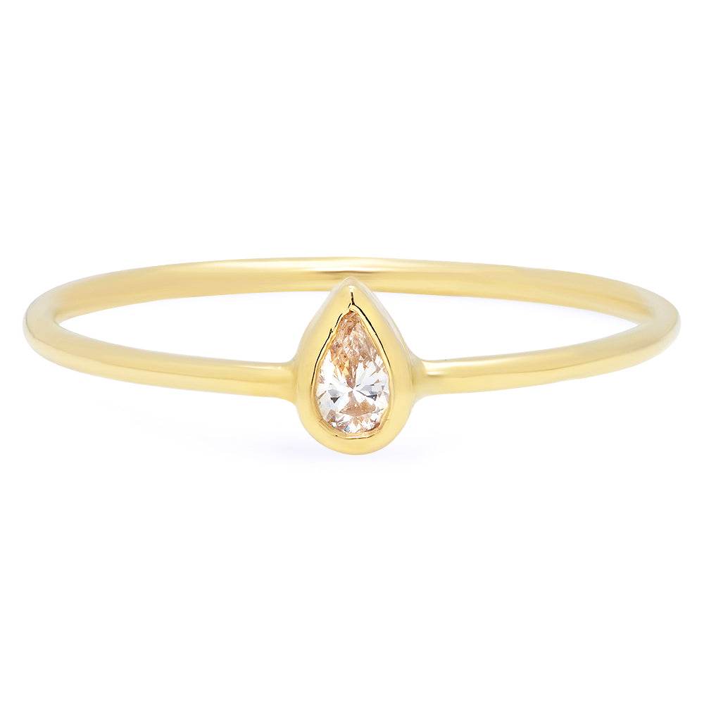 Mini Pear Diamond Ring - rosedale-jewelry