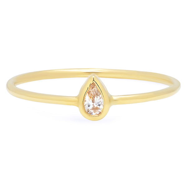 Mini Pear Diamond Ring - Rosedale Jewelry