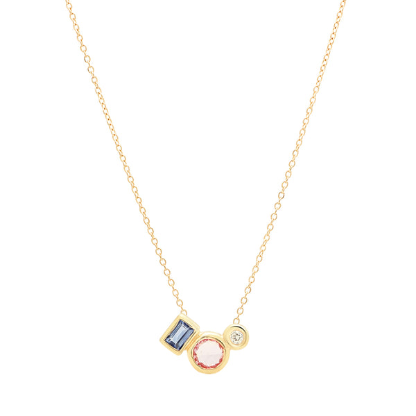 Sapphire Trio Necklace - Rosedale Jewelry