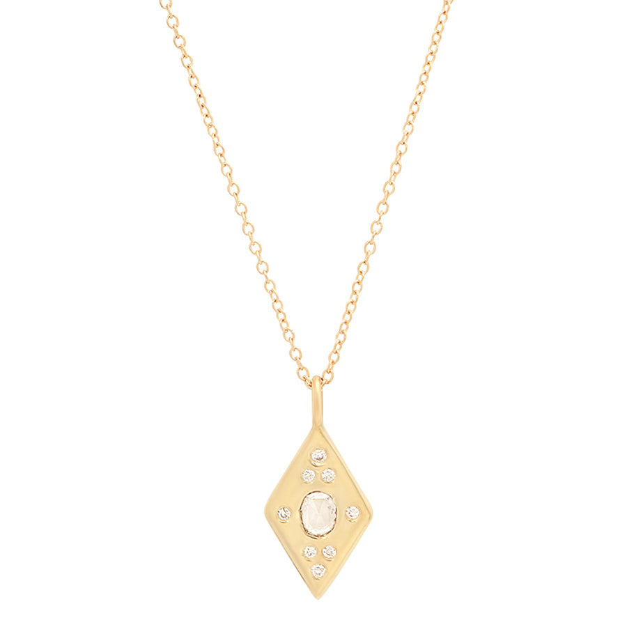 Rhombus Halo Necklace - Rosedale Jewelry