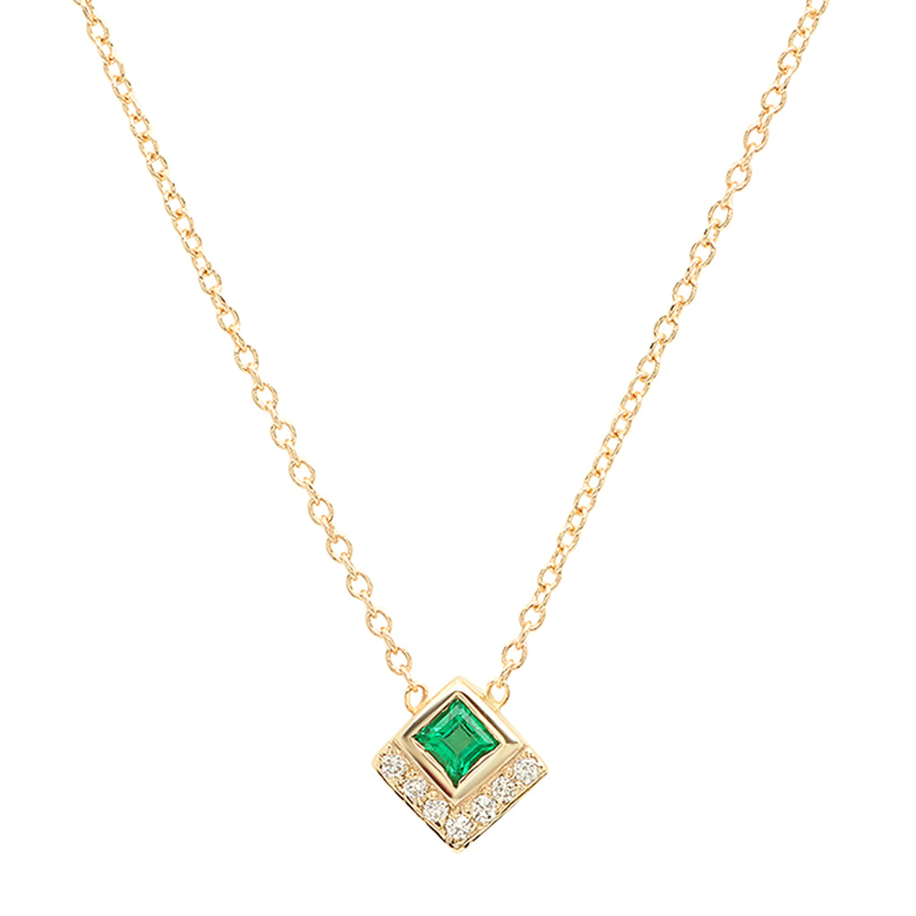 Emerald Chevron Necklace - Rosedale Jewelry