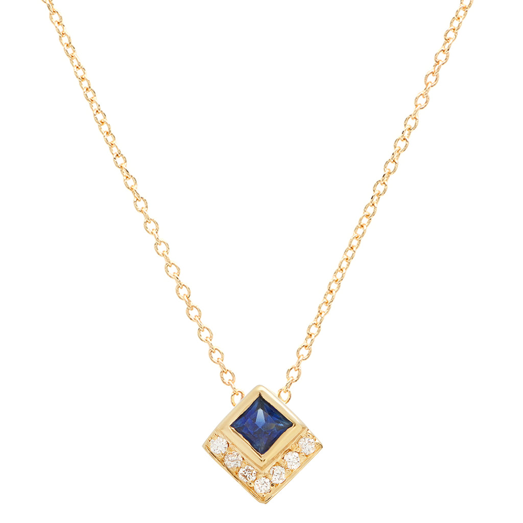 Sapphire Chevron Necklace - rosedale-jewelry