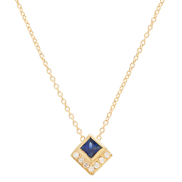 Sapphire Chevron Necklace - Rosedale Jewelry