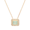 Paraiba Tourmaline Halo Necklace - Rosedale Jewelry