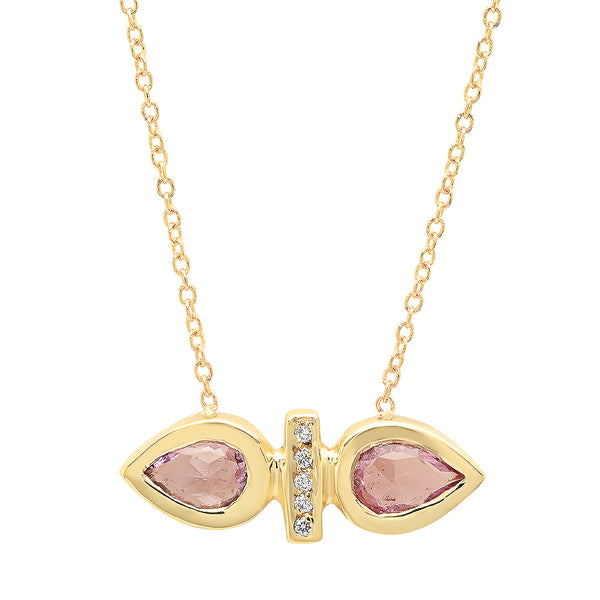 Dahlia Pink Sapphire Necklace - Rosedale Jewelry