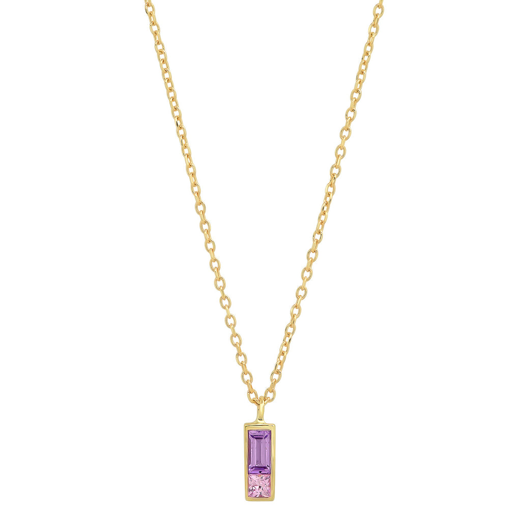 Sapphire Duet Necklace - Purple/Blue - Rosedale Jewelry