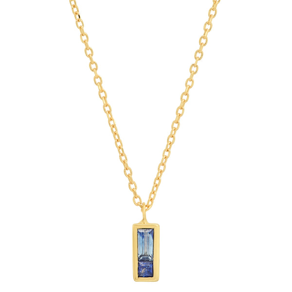 Blue Sapphire Duet Necklace - Rosedale Jewelry