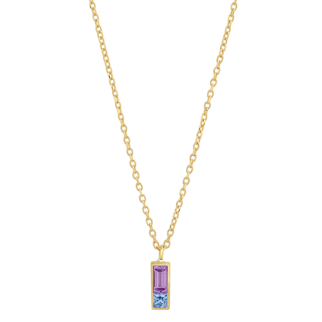 Sapphire Duet Necklace - Purple/Pink - Rosedale Jewelry