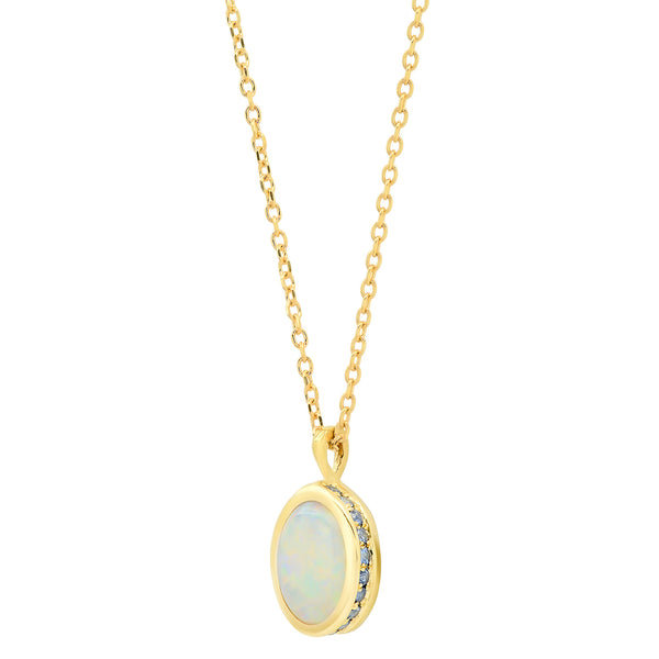 Opal Sapphire Secret Garden Necklace - rosedale-jewelry