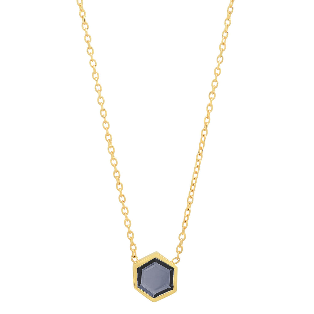 Spinel Hexagon Necklace - Rosedale Jewelry