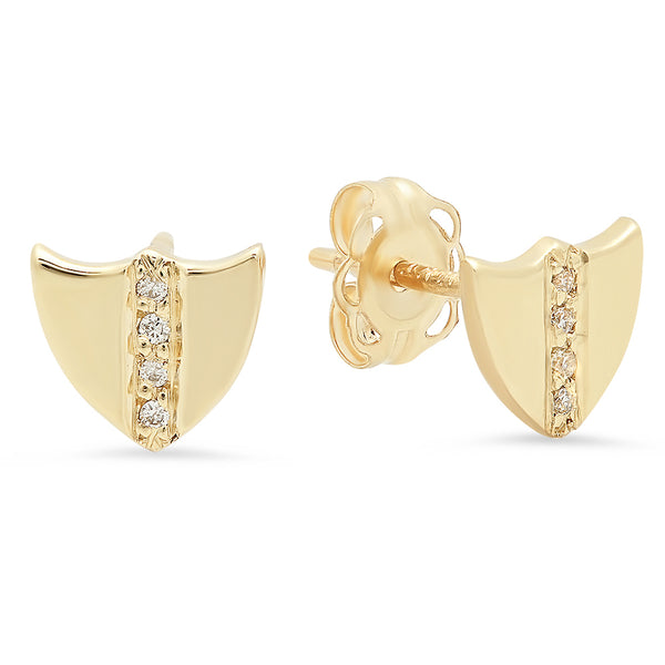 Petite Shield Earrings - Rosedale Jewelry