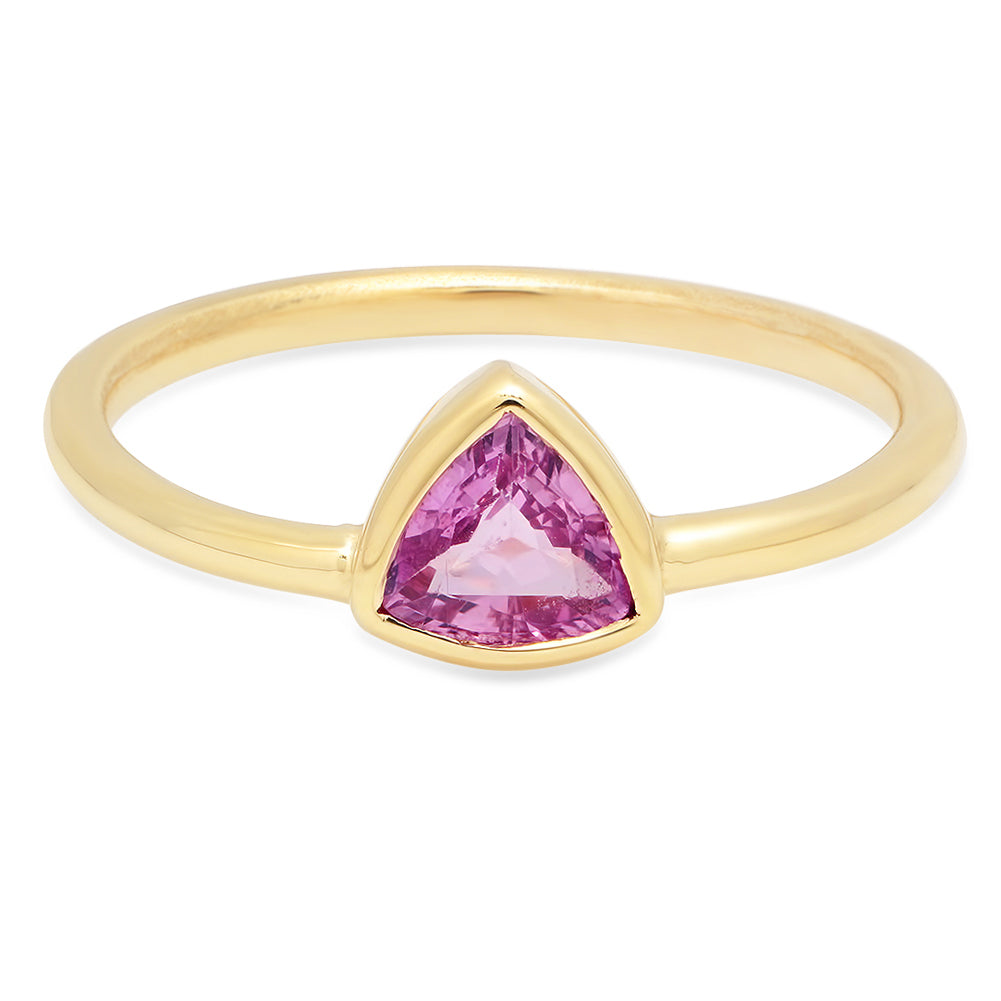 Pink Sapphire Trillion Ring - Rosedale Jewelry
