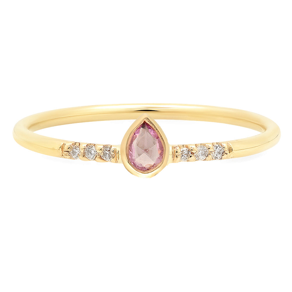 Petite Pear Sapphire Ring - Rosedale Jewelry
