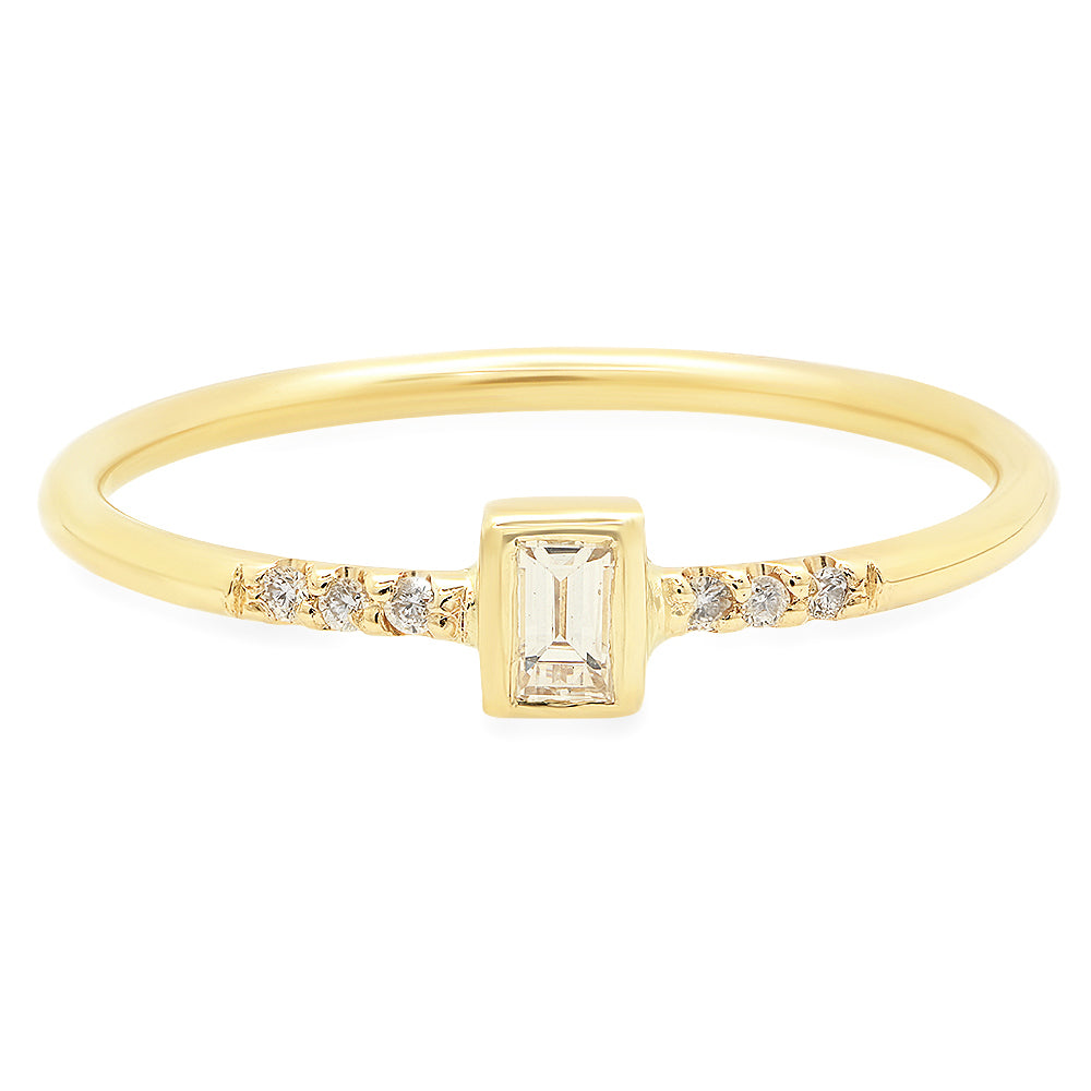 Petite Diamond Baguette Ring - rosedale-jewelry