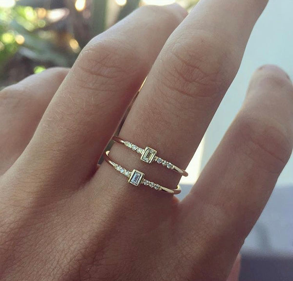Petite Diamond Baguette Ring - Rosedale Jewelry