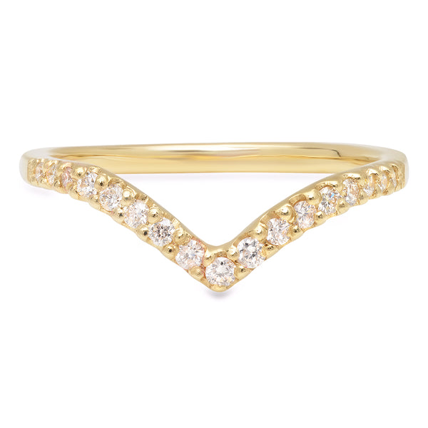 Cascading Diamond V Band - rosedale-jewelry