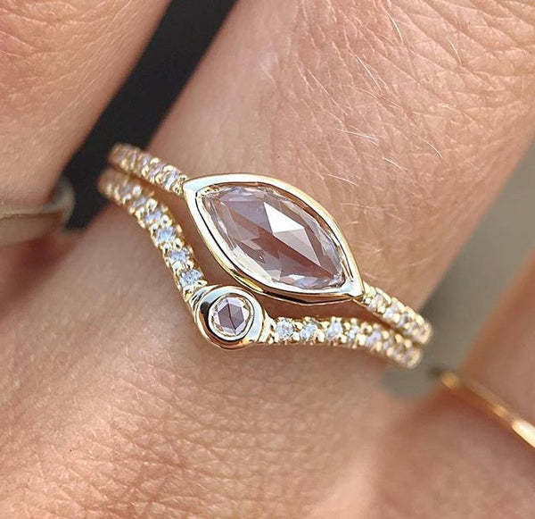 Marquis Sapphire Ring - rosedale-jewelry