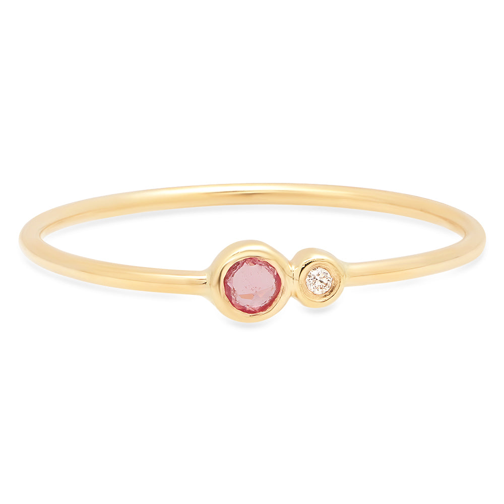 Pink Sapphire Duo Ring - rosedale-jewelry
