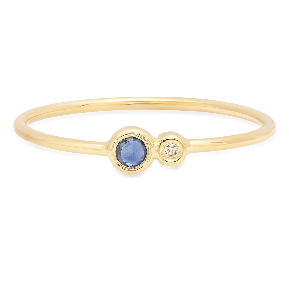 Blue Sapphire Duo Ring - rosedale-jewelry