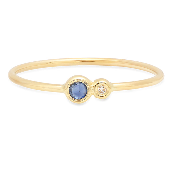 Blue Sapphire Duo Ring - Rosedale Jewelry