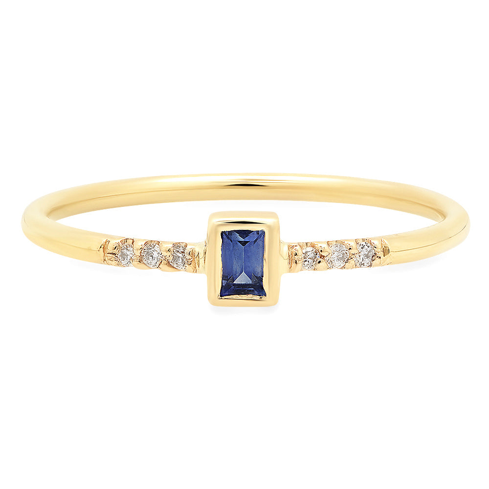 Petite Baguette Sapphire Ring - Rosedale Jewelry