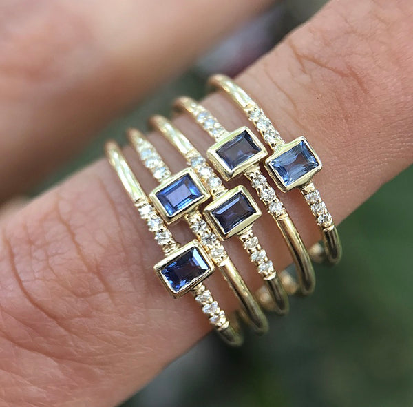 Petite Baguette Sapphire Ring - rosedale-jewelry