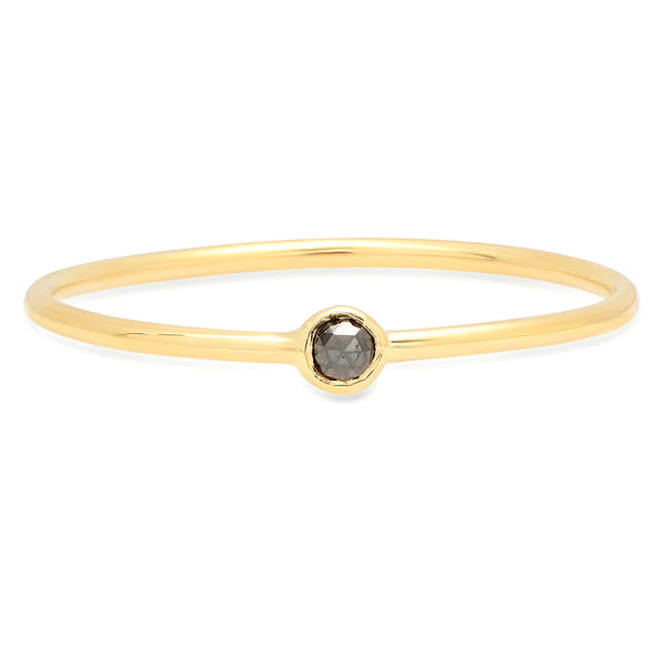 Petite Black Diamond Seedling Ring - Rosedale Jewelry