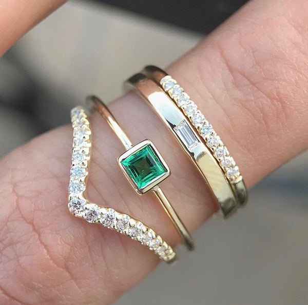 Reversible Baguette Band - Rosedale Jewelry
