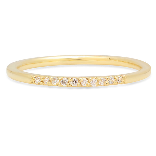Half Pave Band - Rosedale Jewelry