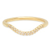 Curved Diamond Band - Rosedale Jewelry