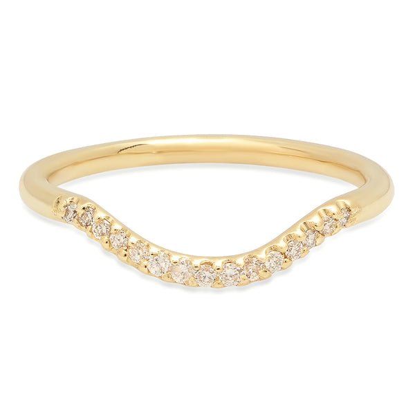 Curved Diamond Band - rosedale-jewelry