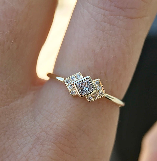 Diamond Chevron Ring - Rosedale Jewelry