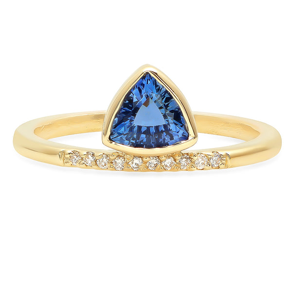 Floating Trillion Sapphire Ring - Rosedale Jewelry