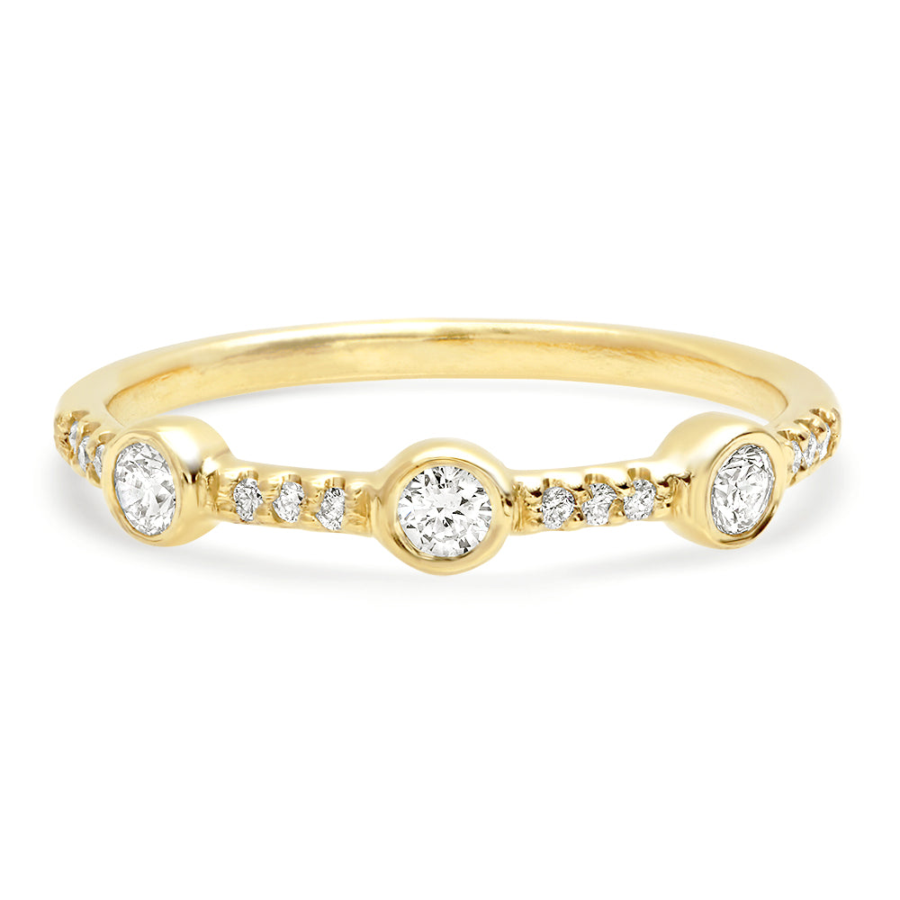 Trinity Pave Diamond Band - Rosedale Jewelry