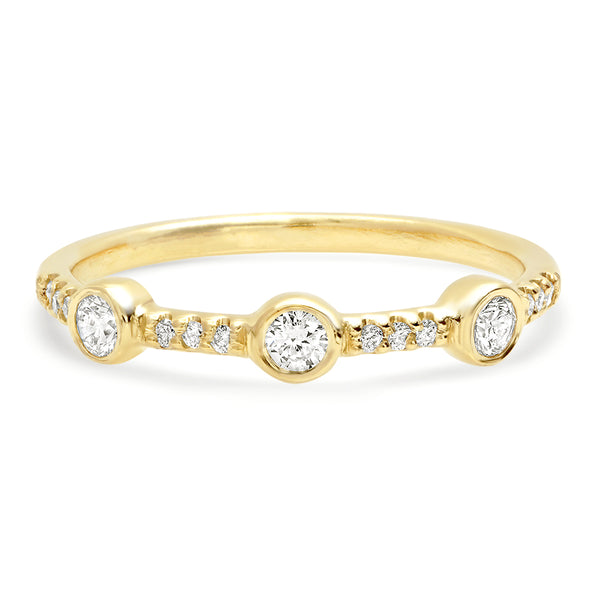 Trinity Pave Diamond Band - rosedale-jewelry