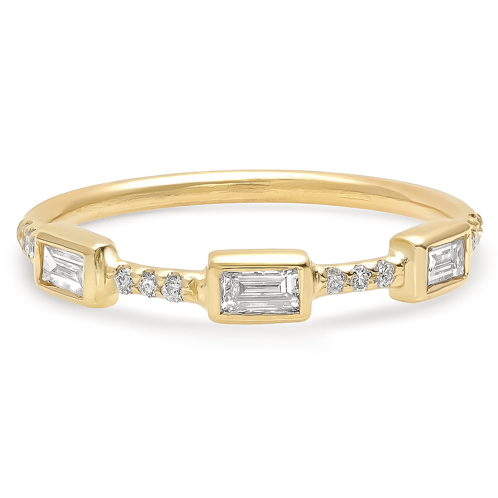 Trinity Baguette Diamond Band - rosedale-jewelry