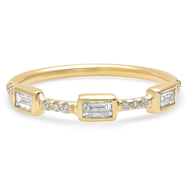 Trinity Baguette Diamond Band - Rosedale Jewelry